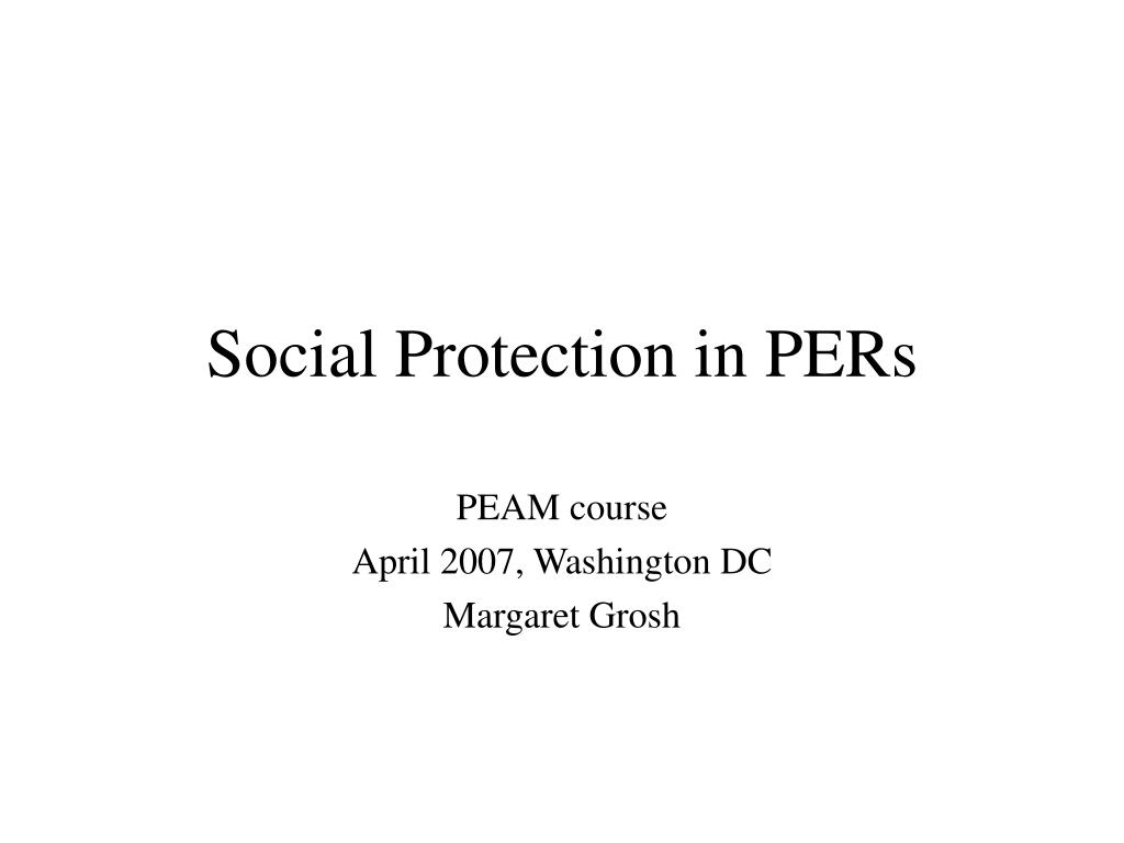 social protection in pers l.