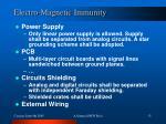 electro magnetic immunity