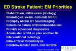 ed stroke patient em priorities