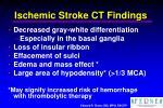 ischemic stroke ct findings