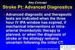 key concept stroke pt advanced diagnostics