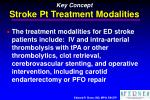 key concept stroke pt treatment modalities