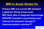 mri in acute stroke dx