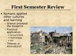 first semester review23