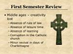 first semester review26