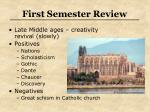 first semester review27