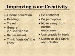 improving your creativity