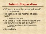 intent preparation