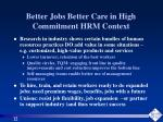 better jobs better care in high commitment hrm context