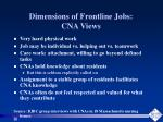 dimensions of frontline jobs cna views