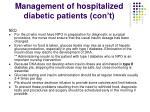 management of hospitalized diabetic patients con t81