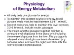 physiology of energy metabolism