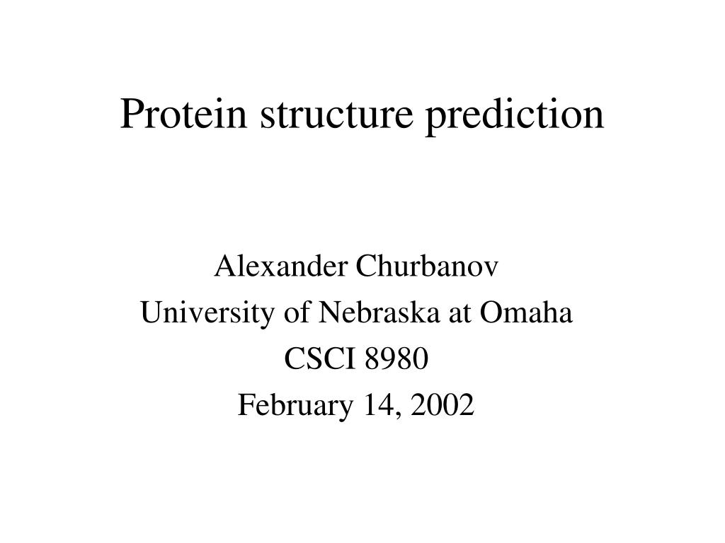 protein structure prediction l.