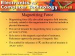 magnetizing force