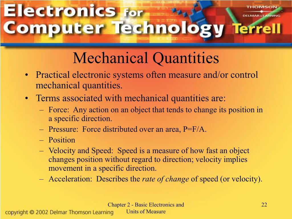 Mechanical Quantities