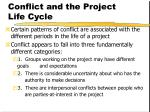 conflict and the project life cycle
