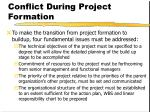 conflict during project formation17