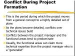 conflict during project formation18