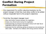 conflict during project formation23