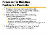 process for building partnered projects