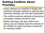 settling conflicts about priorities15