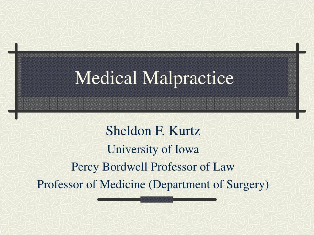 medical malpractice l.