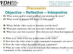 discussion objective reflective interpretive