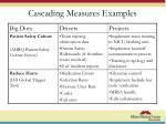 cascading measures examples