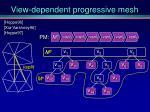 view dependent progressive mesh