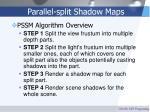 parallel split shadow maps44