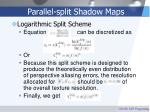 parallel split shadow maps50