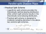 parallel split shadow maps54
