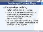 parallel split shadow maps58