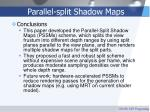 parallel split shadow maps63