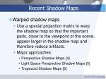 recent shadow maps
