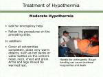 treatment of hypothermia1