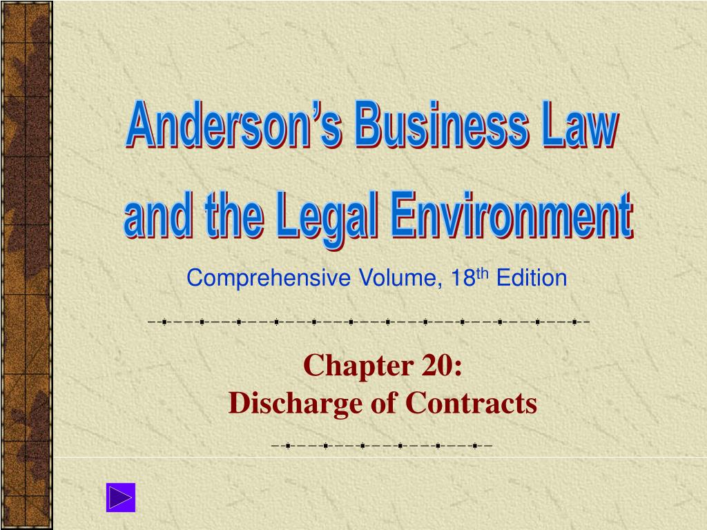 chapter 20 discharge of contracts l.