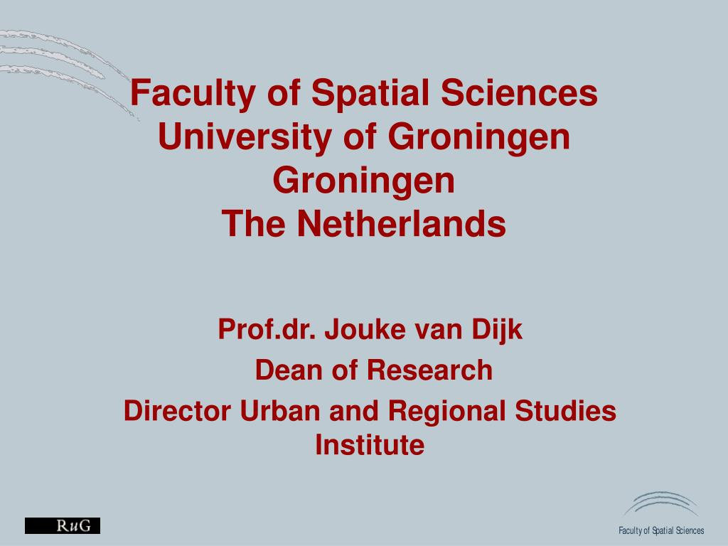 faculty of spatial sciences university of groningen groningen the netherlands l.