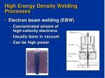 high energy density welding processes10