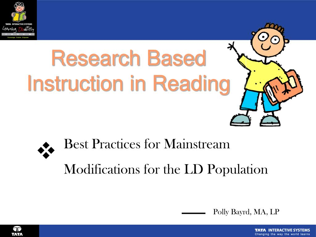 research based instruction in reading l.