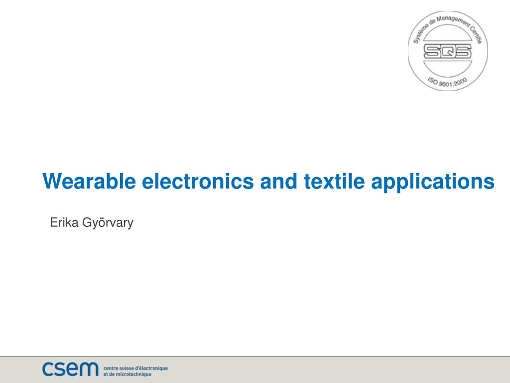 wearable electronics and textile applications l.