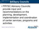 advisory councils