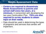 needs assessment data