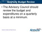 quarterly budget review