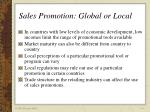sales promotion global or local