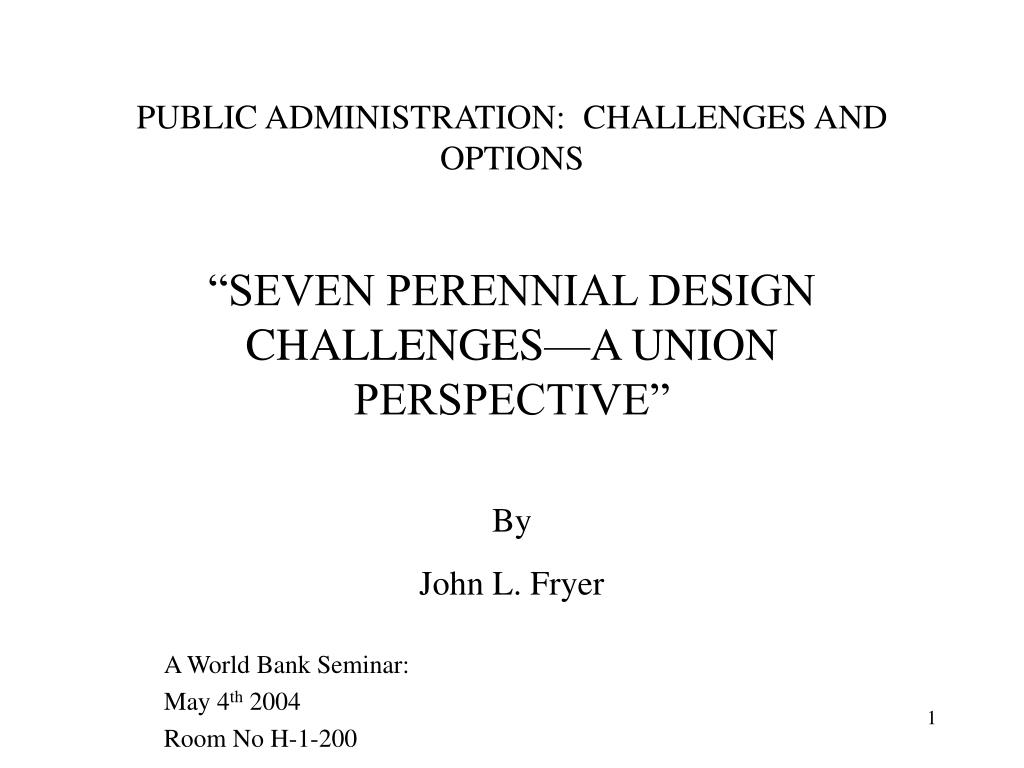 public administration challenges and options l.