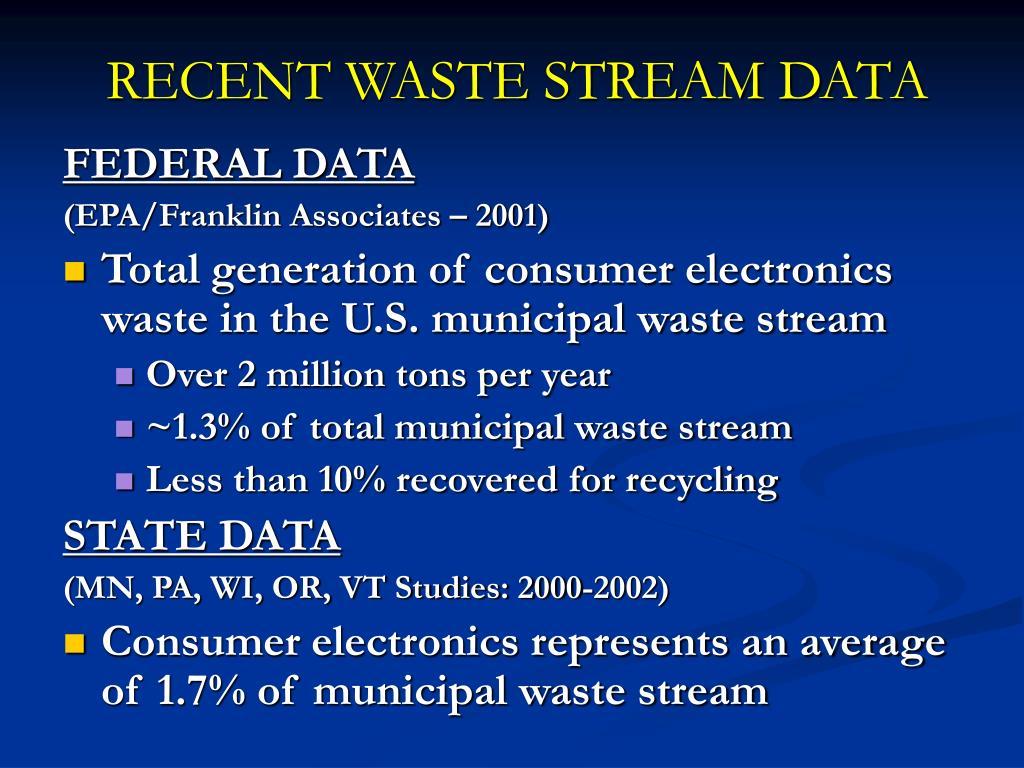 RECENT WASTE STREAM DATA