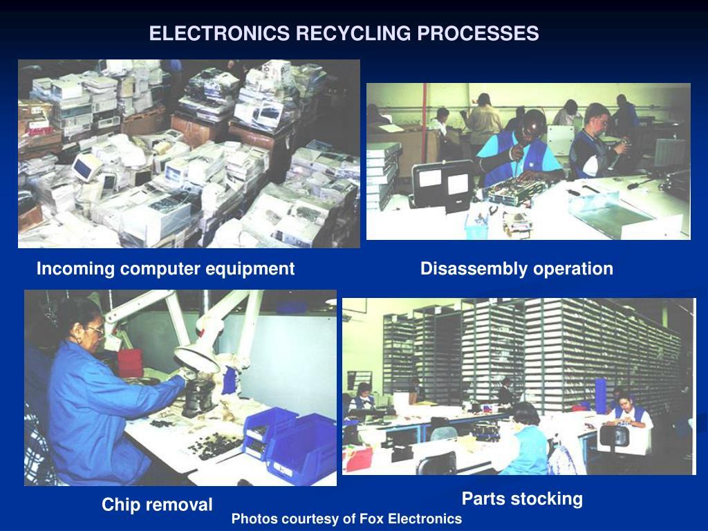 ELECTRONICS RECYCLING PROCESSES