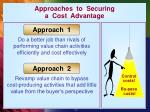 approaches to securing a cost advantage