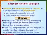 best cost provider strategies